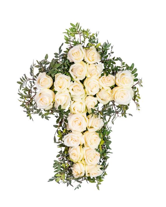 Cruz de claveles (30u)